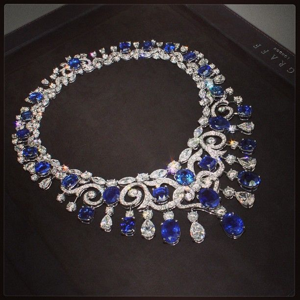 Genuine Sapphire Necklace Sterling Silver Chain September