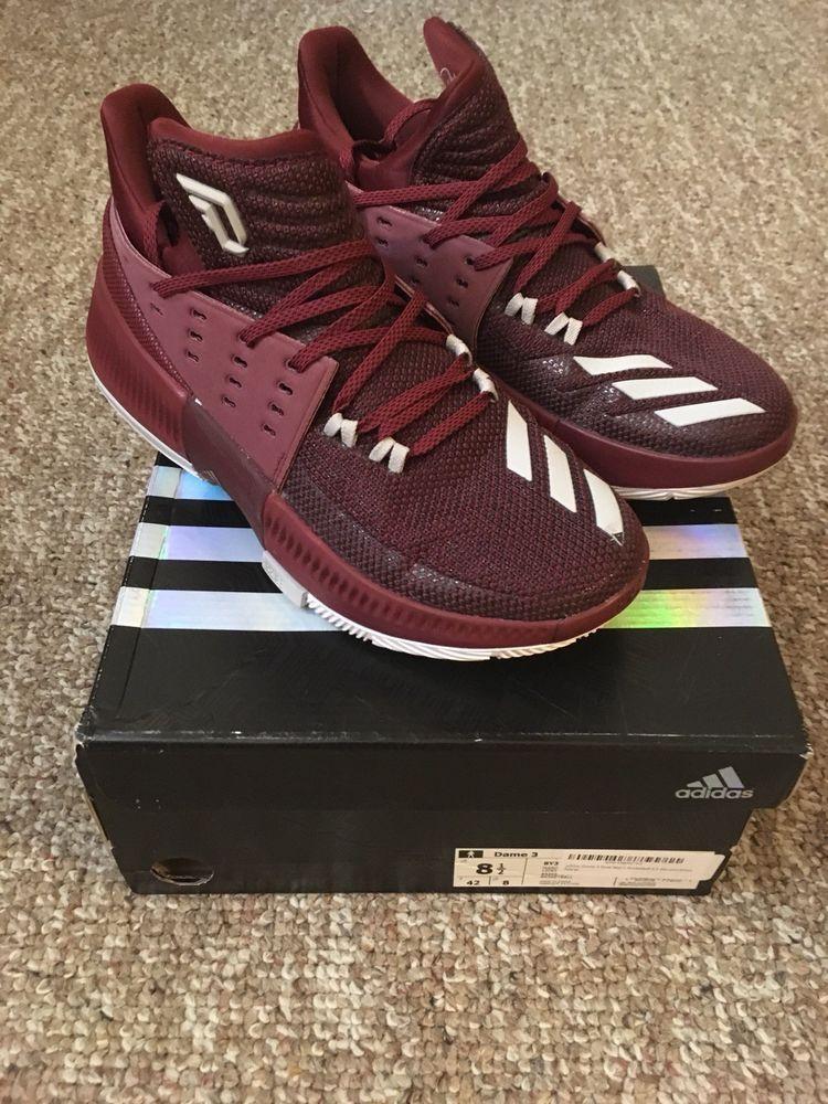 san francisco 4eeca 6b039 Adidas Dame 3 Maroon Size 8.5  fashion  clothing  shoes  accessories   mensshoes  athleticshoes