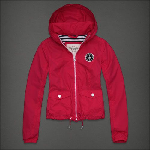 Abercrombie & Fitch Rose Red Womens Winter Jackets AF0121