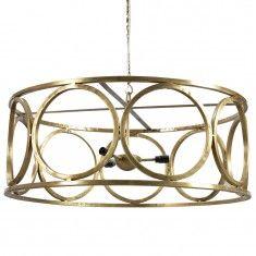 Dovetail Iron 5-Light Chandelier - Brass
