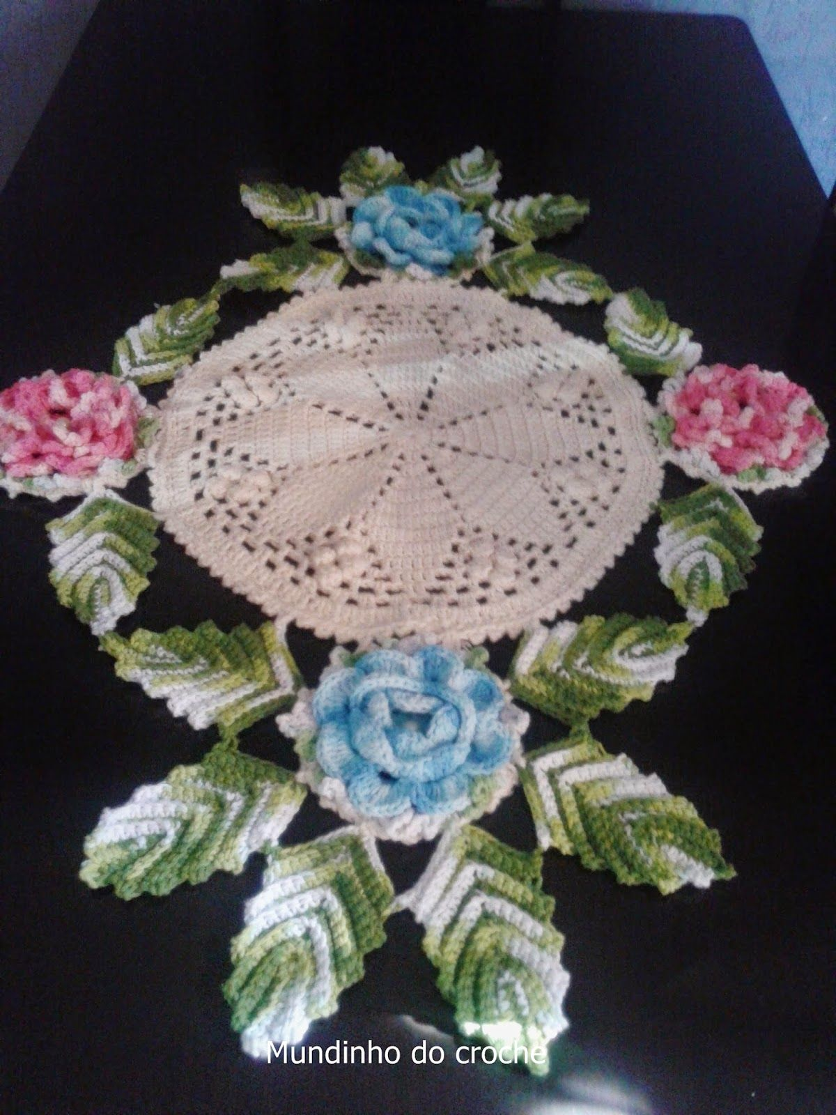 Mundinho do crochê: Centro de Mesa | crochê | Pinterest | Muster ...