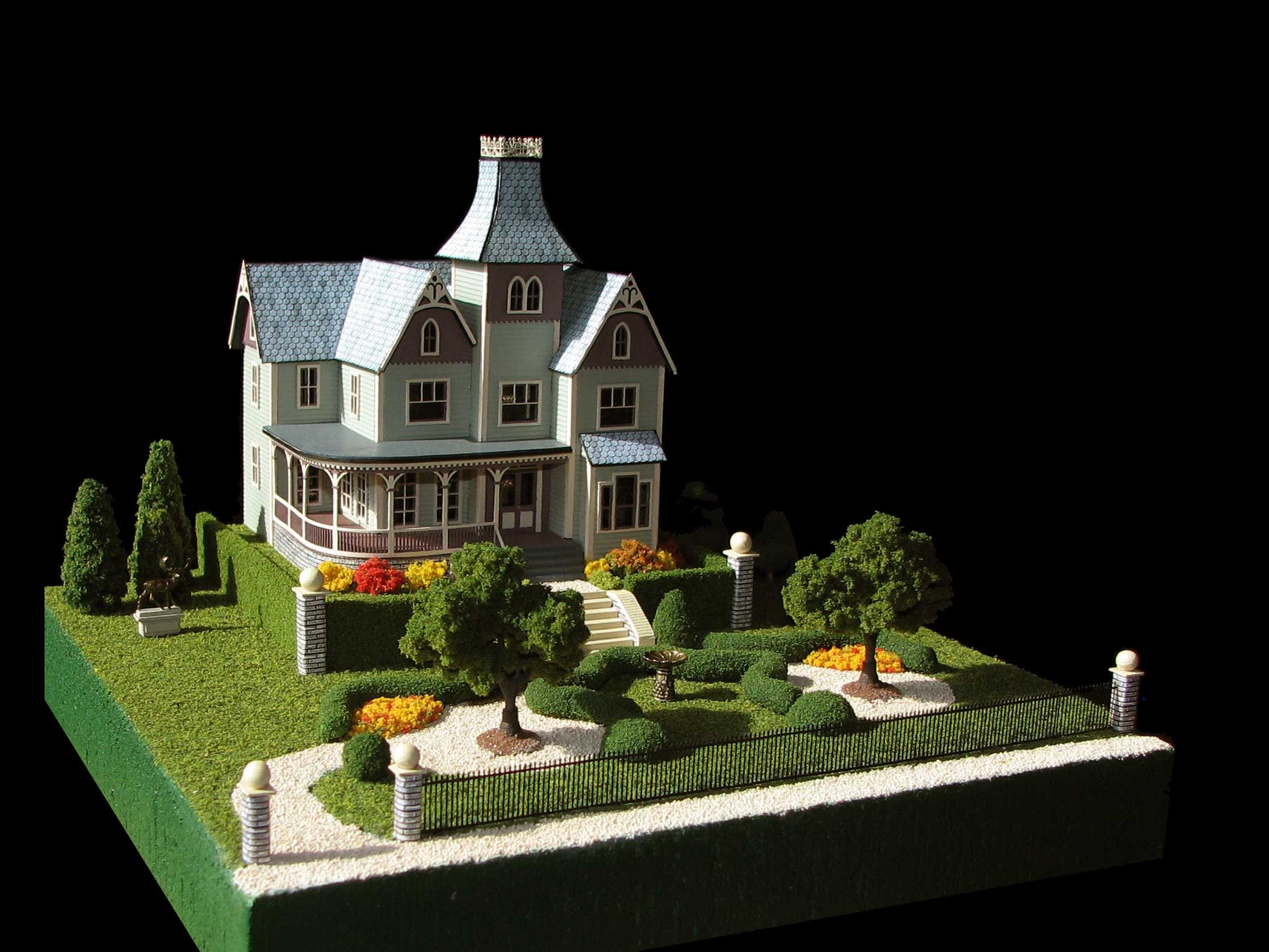 Spring Landscape Miniature Dollhouse Doll House Picture