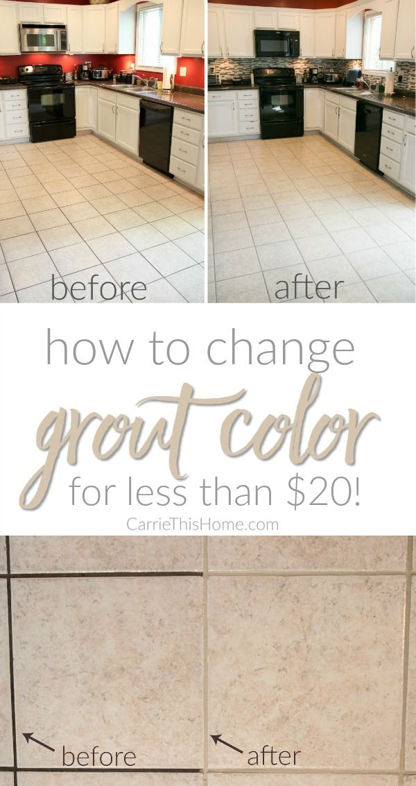 How To Change Grout Color For Less Than 20 | OGT Blogger ...