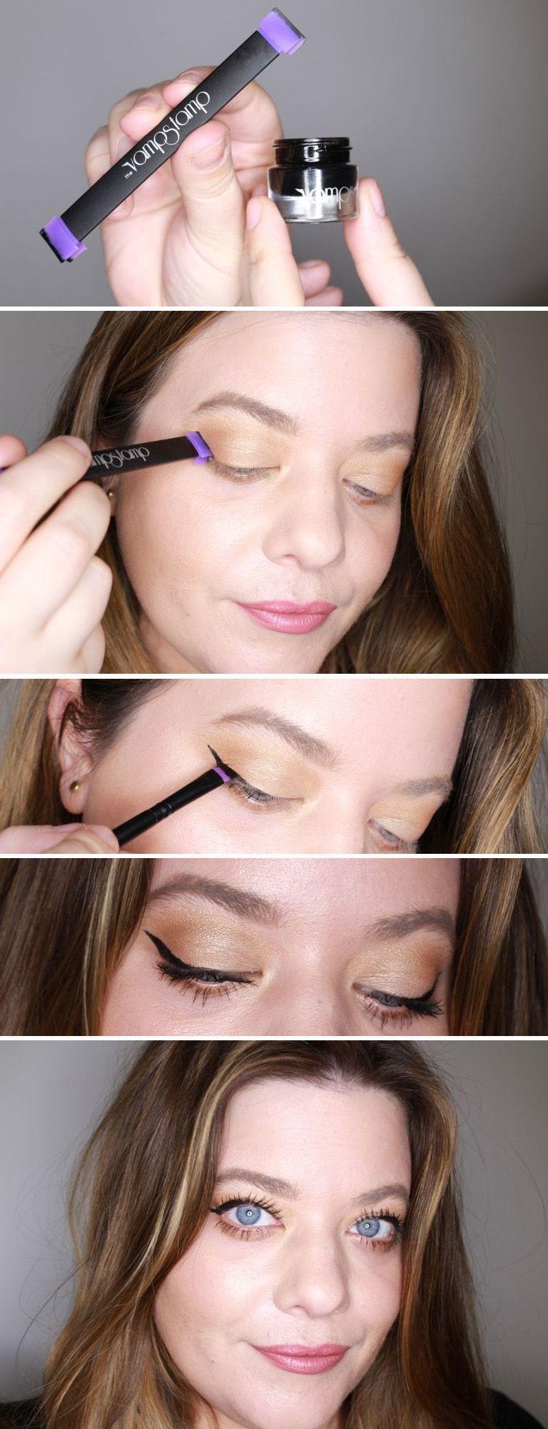 Eyeliner Strong-Willed Eyeliner Double Head Durable Waterproof Black Wing Seal Eyeliner Eye Makeup Beauty Pencil Tool Maquillage Skilful Manufacture