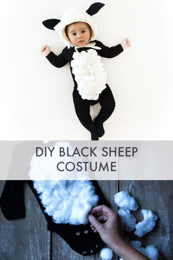 Black Sheep Halloween Costume - Say Yes #sheepcostume
