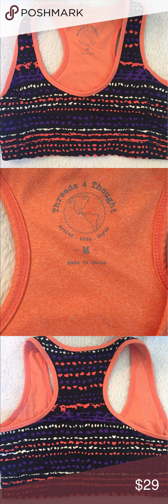 f8858c6a50 Threads 4 Thought colorful pattern sports bra