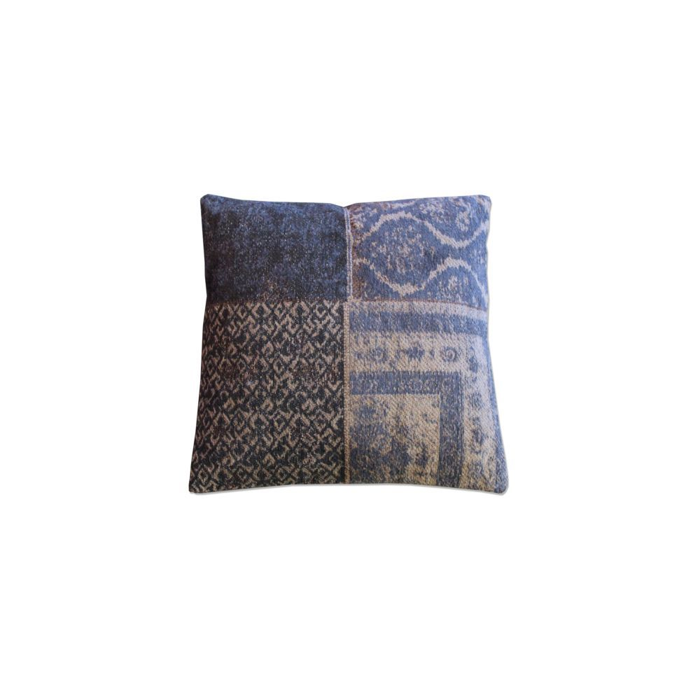 Pillow By Boo Patchwork Dark Blue