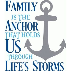 Silhouette Design Store: Family Is The Anchor Title