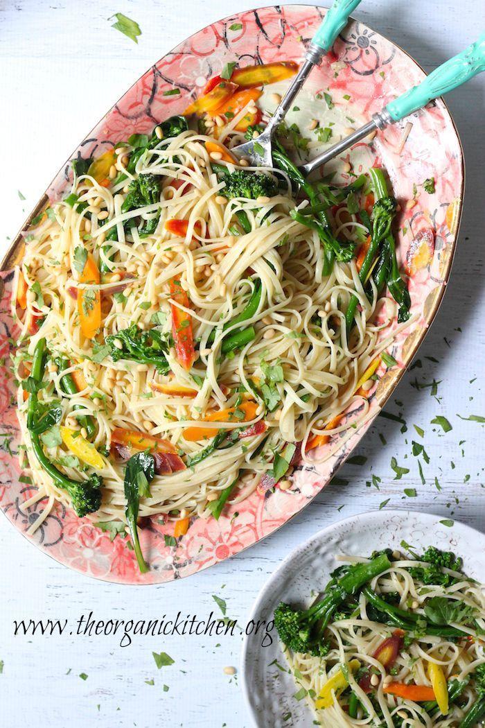 Casual friday linguini with rainbow carrots and broccolini recipe casual friday linguini with rainbow carrots and broccolini gluten free pastareal food recipesvegan forumfinder Images