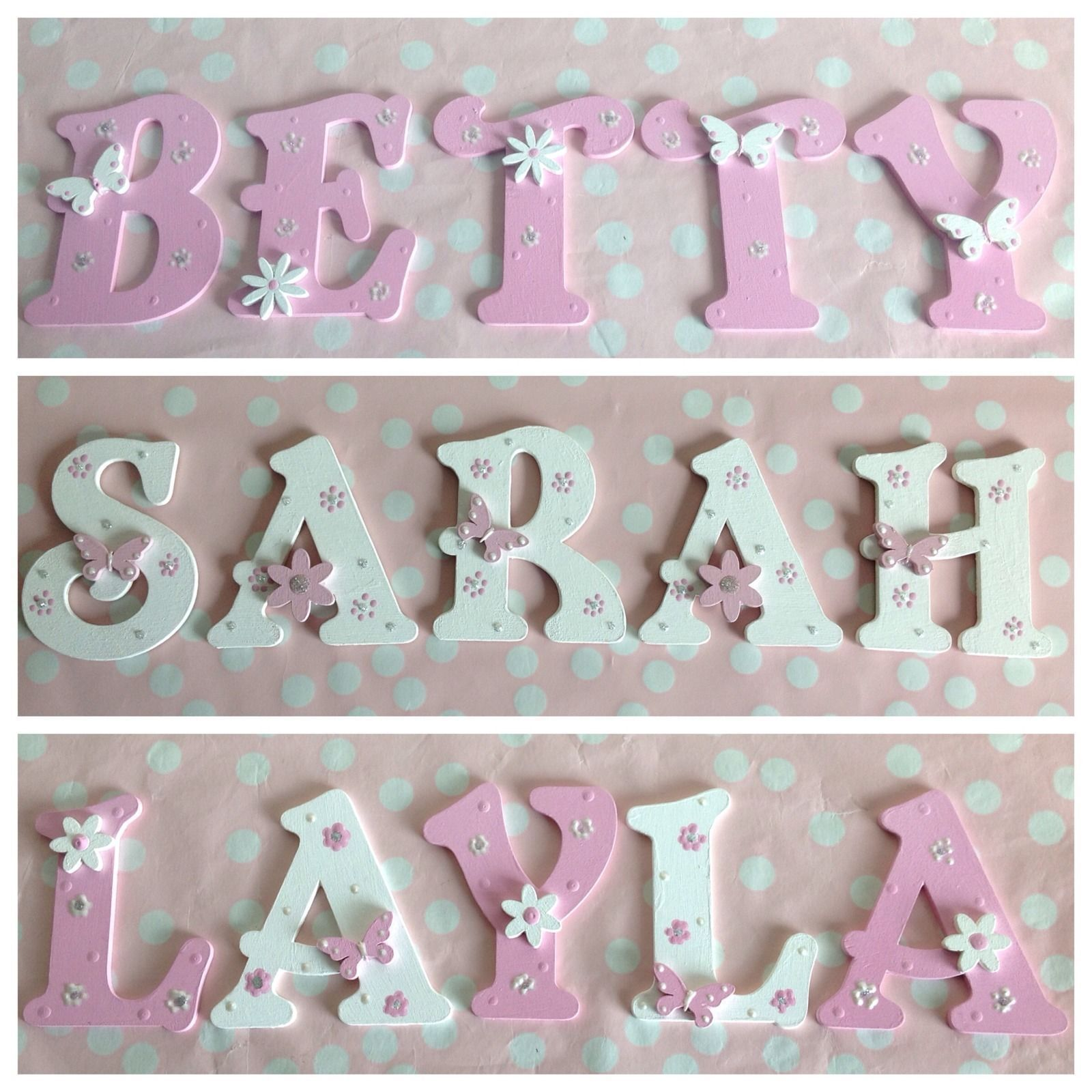 Personalised Child Kids Bedroom Wall Door Wooden Letter Name