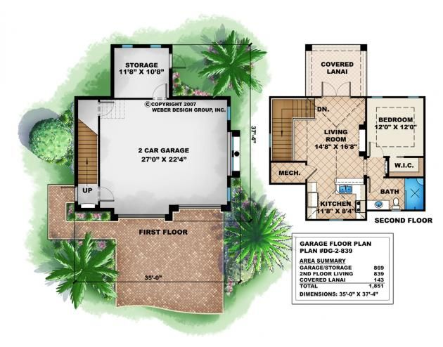 2 Story Garage Floor Plan With Images