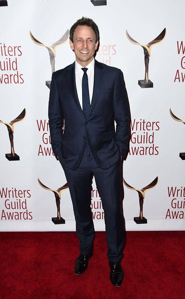 Seth Meyers From 2017 Wga Awards Red Carpet Arrivals Seth Meyers Dapper Gentleman Awards