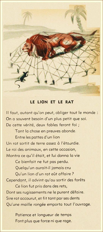 Fable De La Fontaine Le Lion Et Le Rat : fable, fontaine, Idées, Fables, Fontaine,, Fontaines
