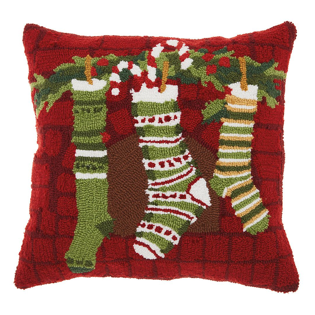 Mina Victory Home For The Holidays Christmas Stockings Throw Pillow Christmas Stockings Christmas Holidays Christmas Pillow