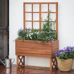 Gronomics Cedar Elevated Planter Box Raised Bed Container