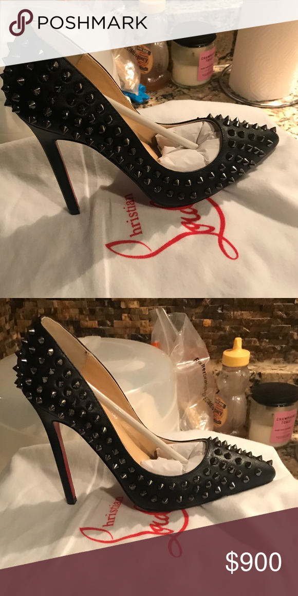 1e3889c53dd0 Christian Louboutin Original Pigalle Spikes Christian Louboutin Original  Pigalle Spikes 120 Black Multi Pumps 37.5 So