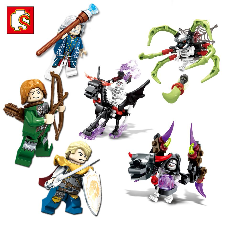Knight Sembo Building Legos Bricks Devil Compatible Blocks Figures QrCWdxoBeE