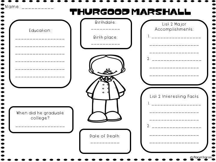 Thurgood Marshall biography black history month famous