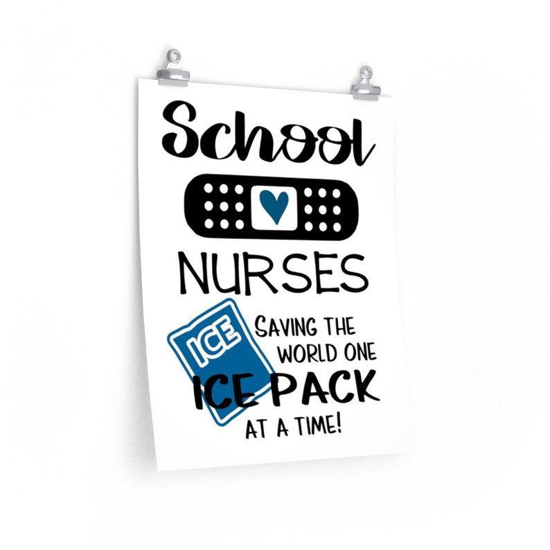 School nurse's poster School nurse print Funny school