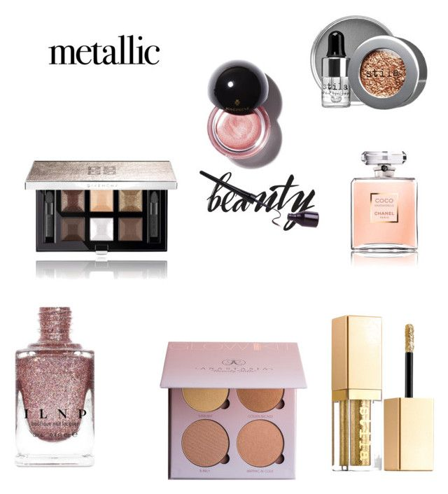 """Metal Beauty"" by rea-godo ❤ liked on Polyvore featuring beauty, Stila and Givenchy"