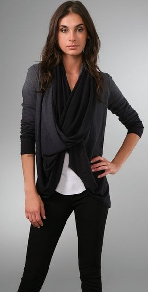 Ombre Drape Cardigan - Lyst -just got it for $70 (resale - I love Consignment shopping)