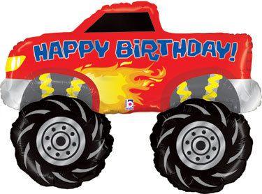 Big Monster Truck Happy Birthday Balloon The Perfect Decoration