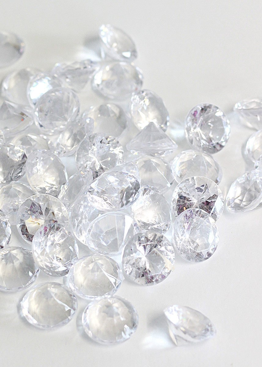 Confetti Wedding Vase Filler 100 x CLEAR Acrylic Scatter Crystal Nuggets Ice