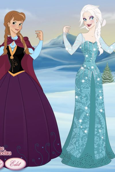 Elsa and Anne ~ by GingerCookie ~ created using the Modified Dolls doll maker | DollDivine.com