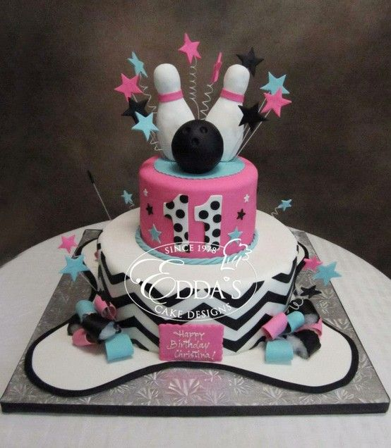 Bowling Birthday cake Birthday Cakes Pinterest Bowling