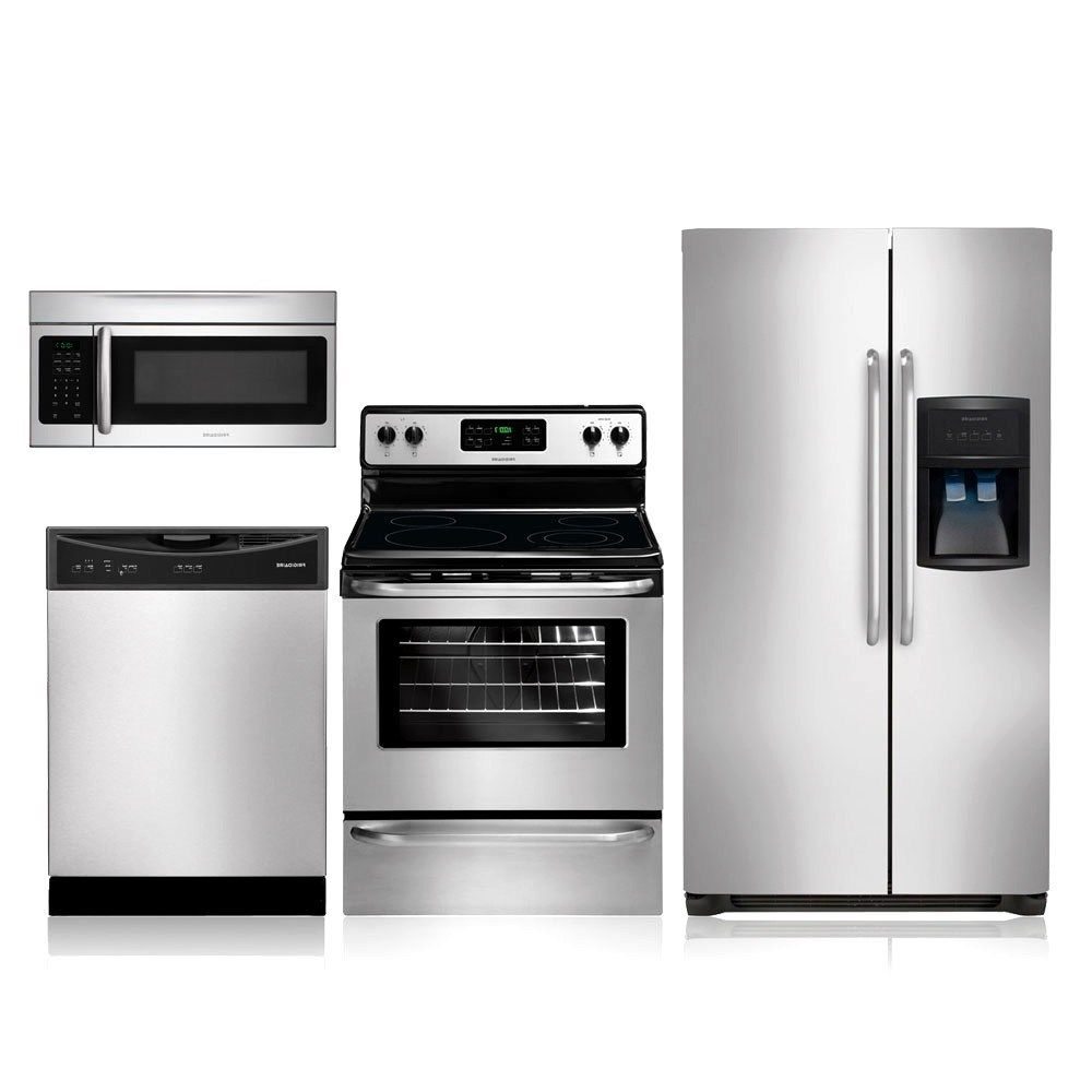 contemporary kitchenaid appliance bundle stainless steel kitchen ...