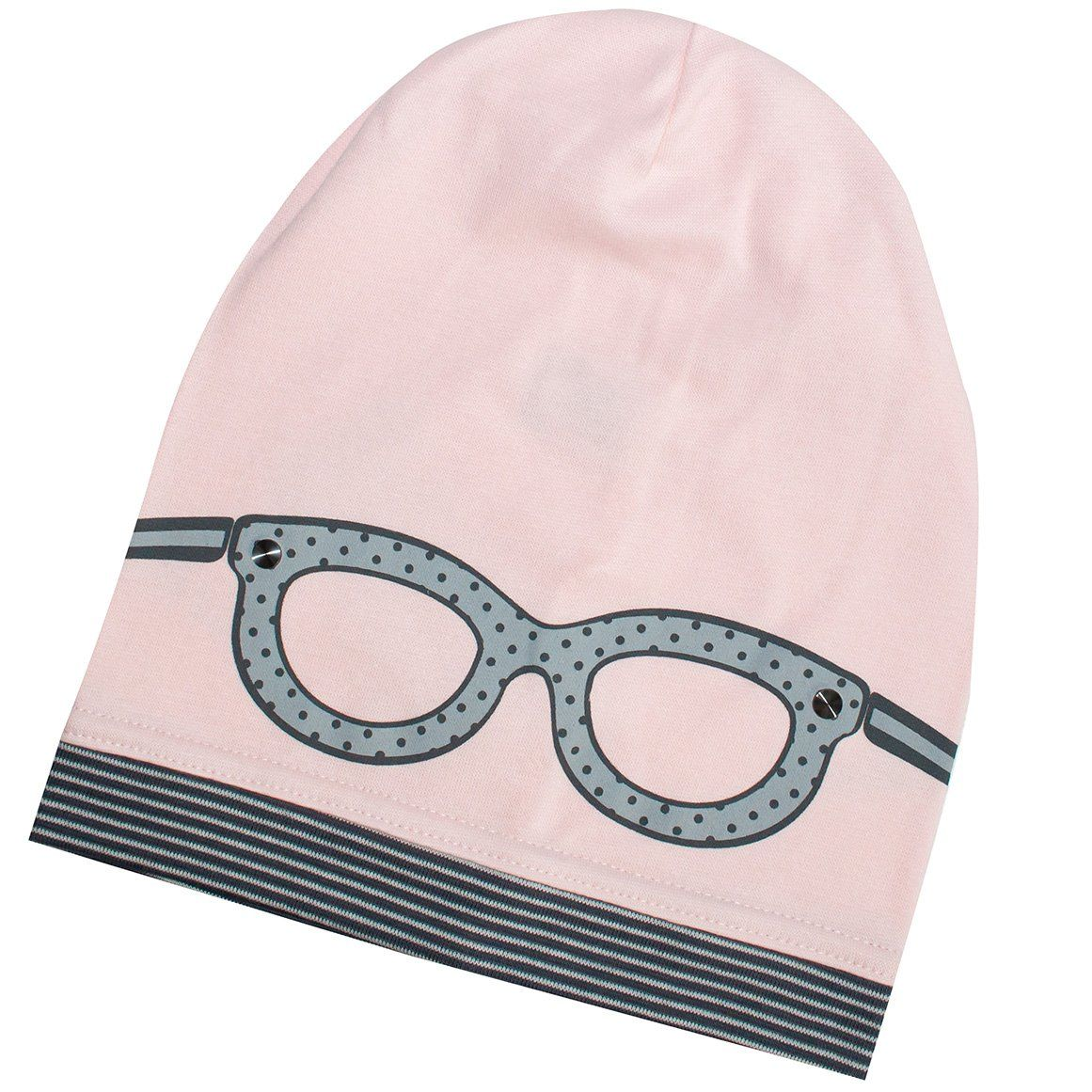 Light Pink Beanie with Gray Glasses Print | 34/064-LP