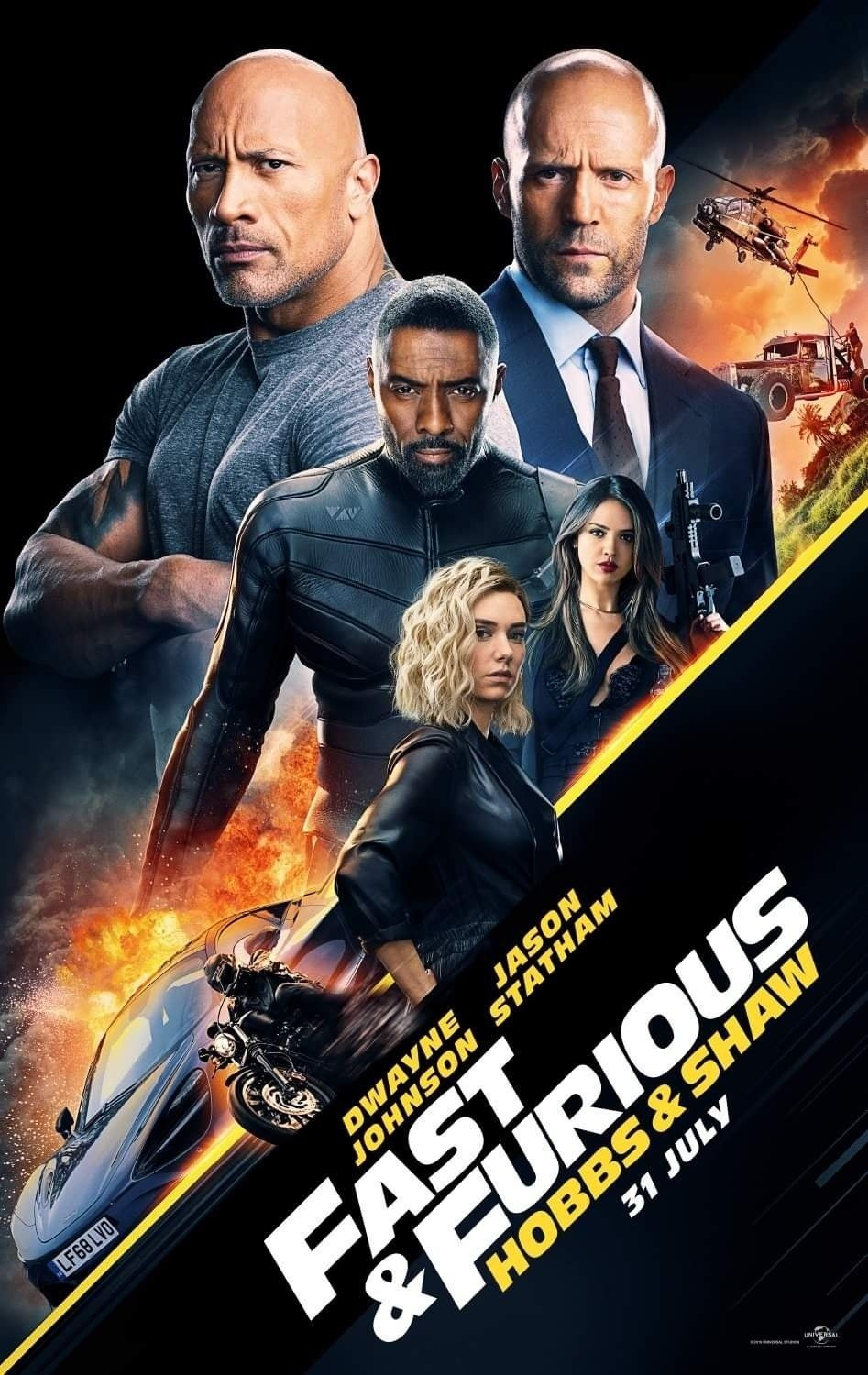Hobbs And Shaw International Poster In 2019 Movies To Watch