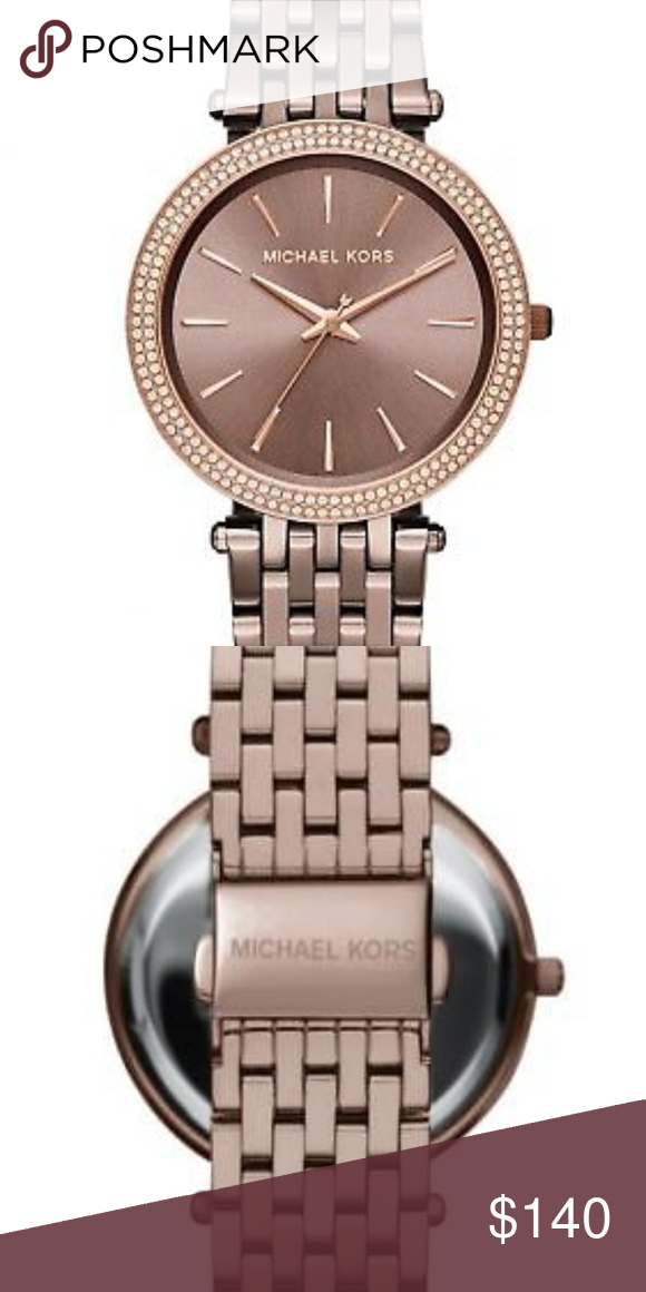 62d41b9af089 Michael Kors Women Darci Sable Watch MK3416 MK3416 Sable ion-plated  stainless steel bracelet Round