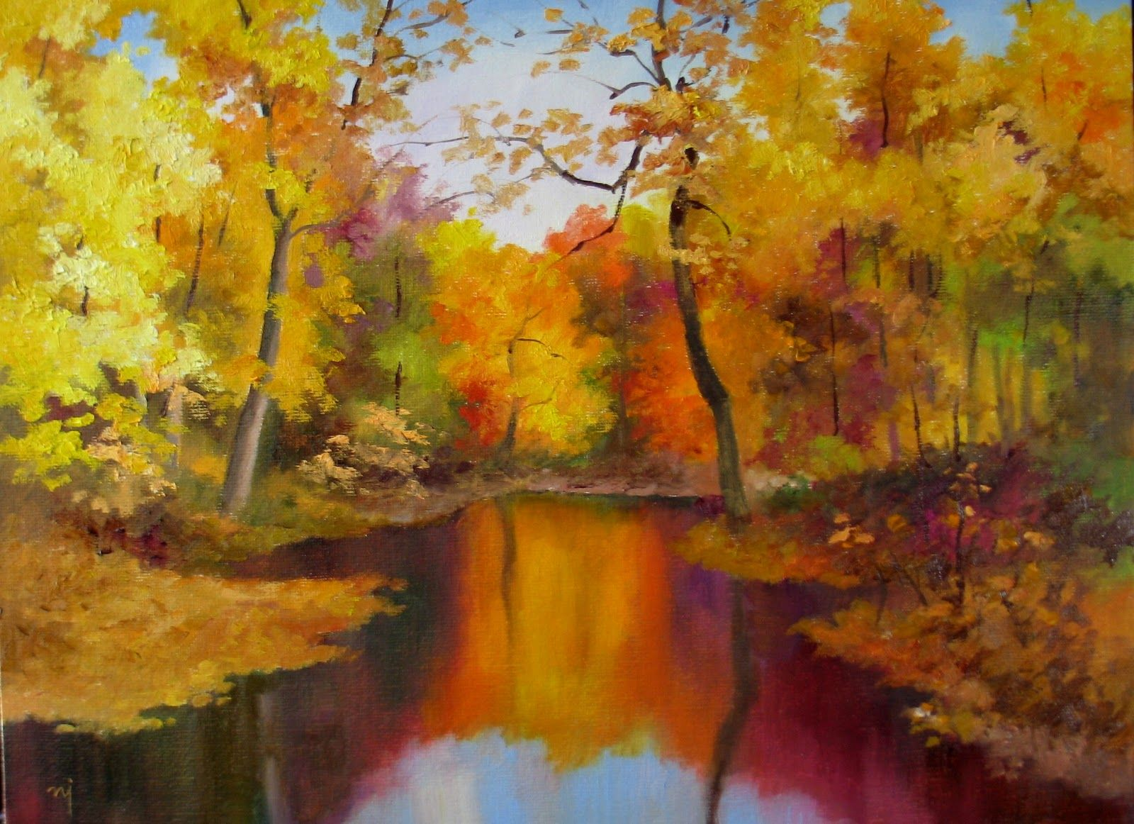 Fall Landscape Paintings | Autumn Landscape 2 - SOLD ...