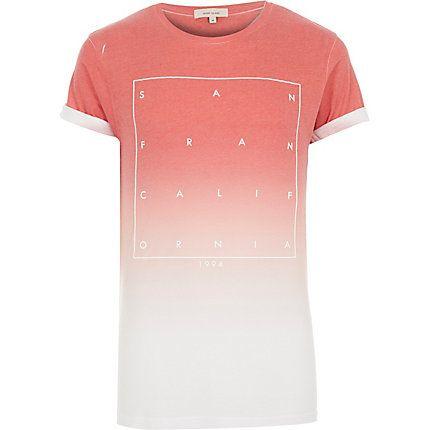 Red faded San Fran print t-shirt £18 #RImenswear