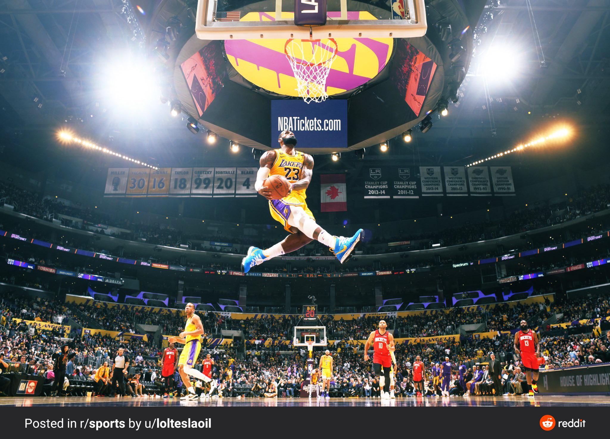 Psbattle Lebron Reverse Windmill Age 35 Lebron James Poster King Lebron Lebron James Lakers