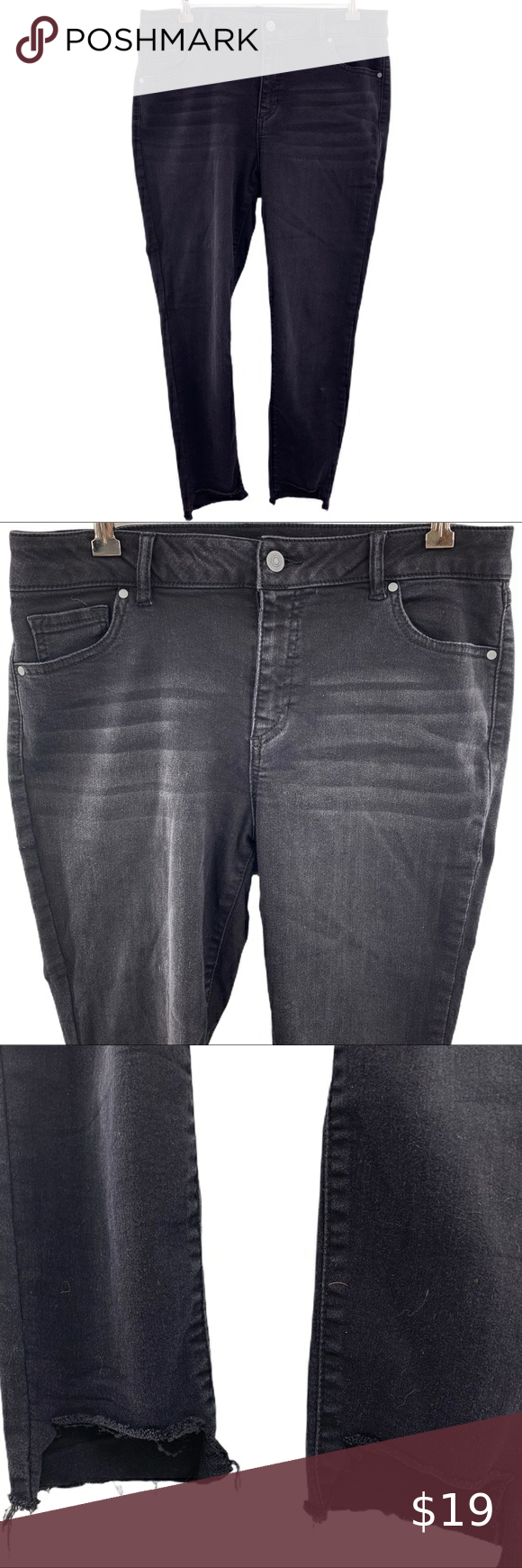 Miss Poured In Blue Black Skinny Jeans Size 12 Skinny With Stretch Whisker Fading At The Top And Distre In 2020 Black Skinny Jeans Skinny Jeans Size 12 Black Skinnies