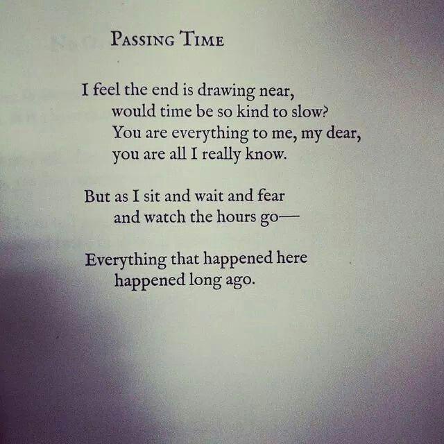 Passing Time By Lang Leav Love And Misadventure Lang Leav Words