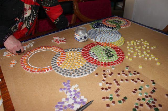 Trabajos Manuales Mosaico Jardín Almenara Pinterest Mosaicos