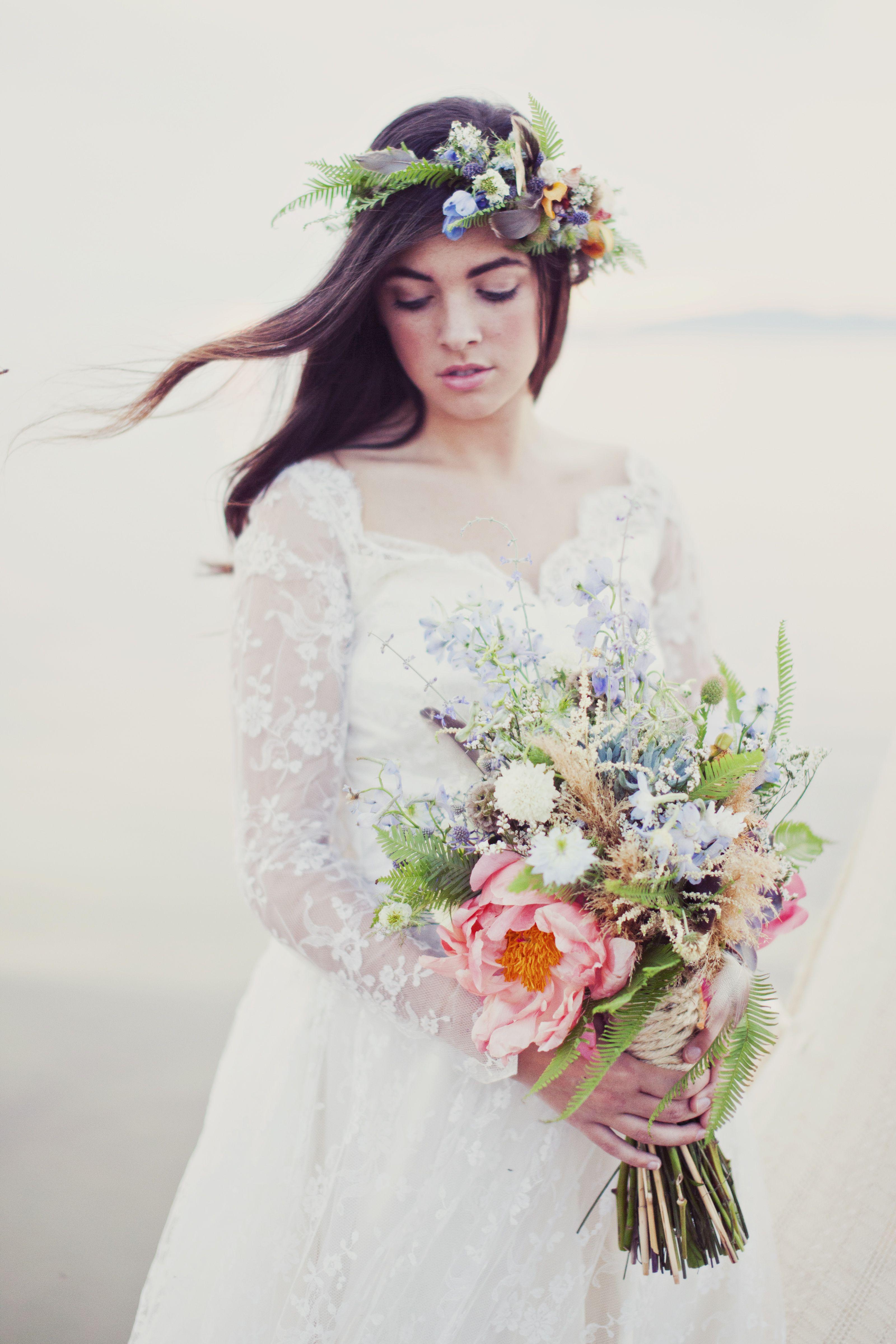 Cast Away Beach Inspired Wedding Flowers Utah Calie Rose Beach