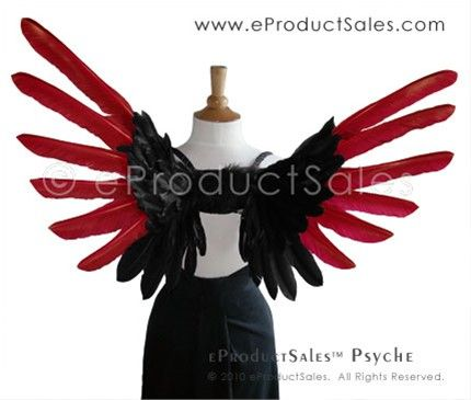 eProductSales Original Black and Red Tipped PSYCHE