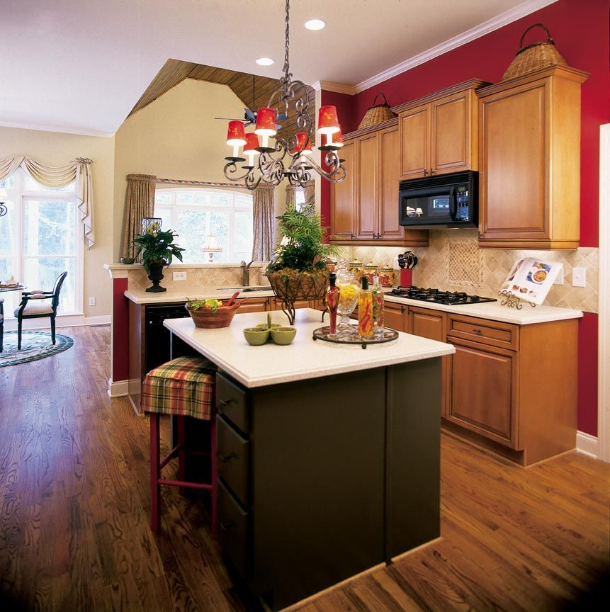 Color scheme kitchen decorating ideas awesome red for Kitchen ideas white cabinets red walls