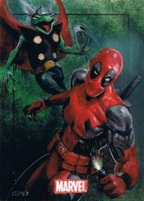 #Deadpool #Fan #Art. (Marvel Heroes & Villains Deadpool Vs Thunder Frog) By: Charles Hall. ÅWESOMENESS!!!™ ÅÅÅ+