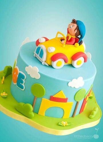 Toytown Noddy Cake Noddy Cake 1st Birthday Cakes Baby Birthday Cakes