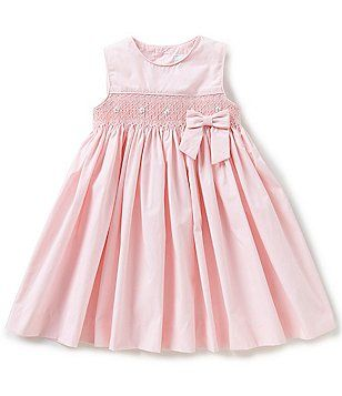 ac5a8dcffc Edgehill Collection Baby Girls 12-24 Months Embroidered Smocked Sleeveless  Dress