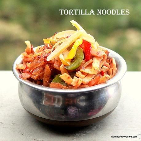 ROTI NOODLES | TORTILLA NOODLES RECIPE | HOW TO MAKE CHAPATI NOODLES