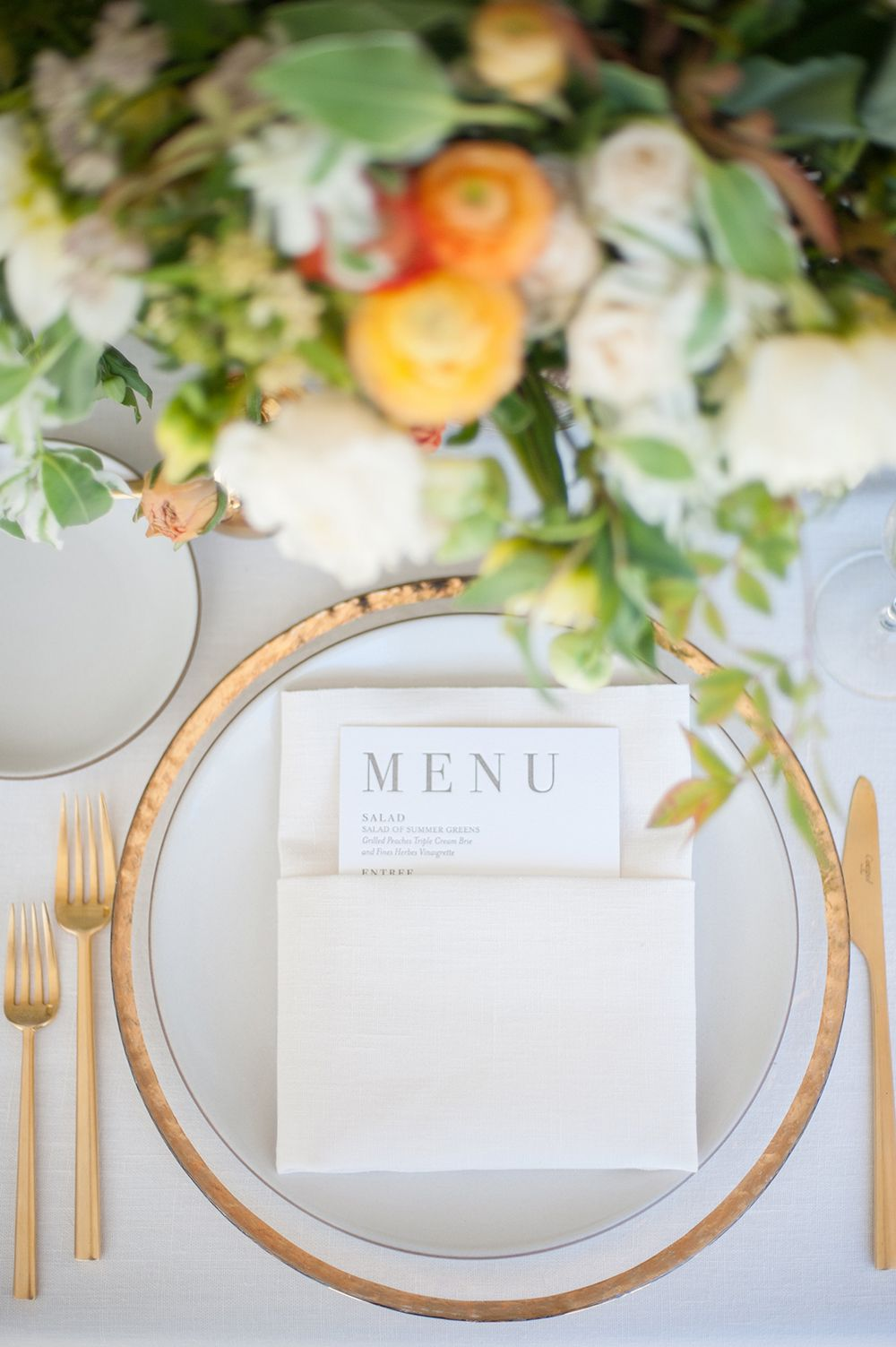 Contemporary Montecito Wedding At Home | Place setting, Wedding and ...