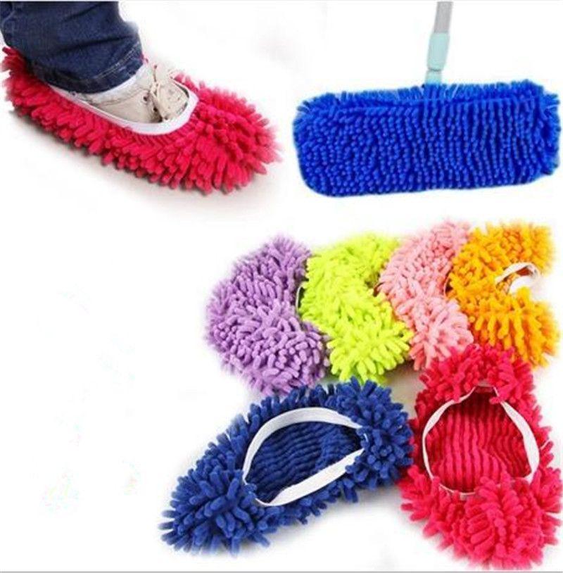 1 Peca De Microfibra Mop Limpeza Do Chao Preguicoso Pantufas Casa Ferramentas Sapatos Piso Casa Cozinha Banheiro M Microfiber Mops Flooring Tools Cleaning Mops
