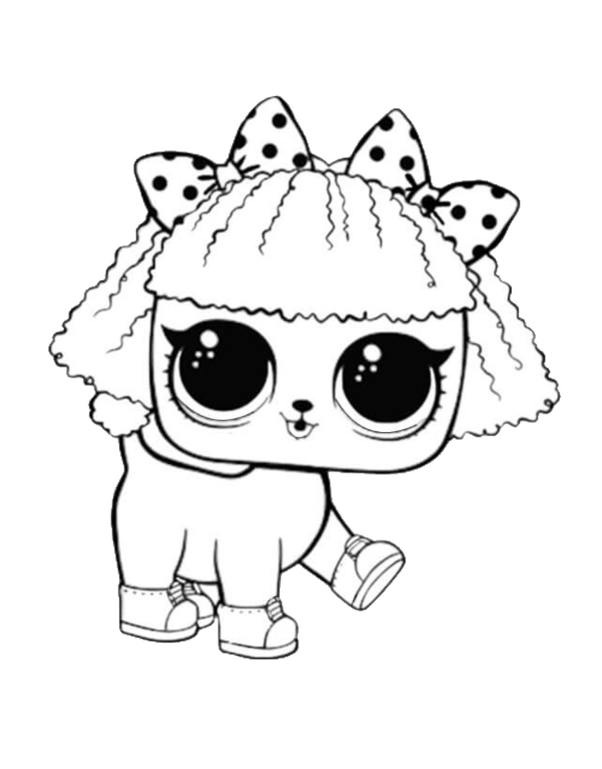 Lol Surprise Coloring Page In 2020 Lol Dolls Puppy Coloring Pages Cat Coloring Page