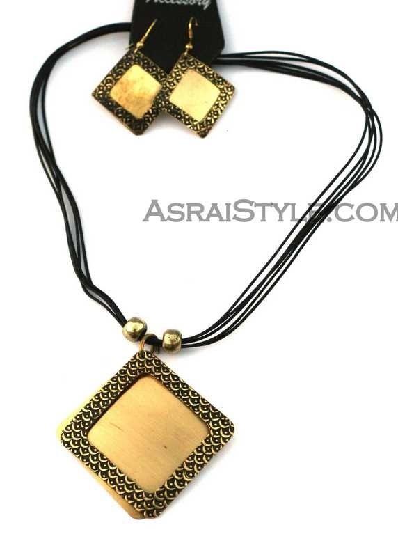 Indian Boho Carved Necklace